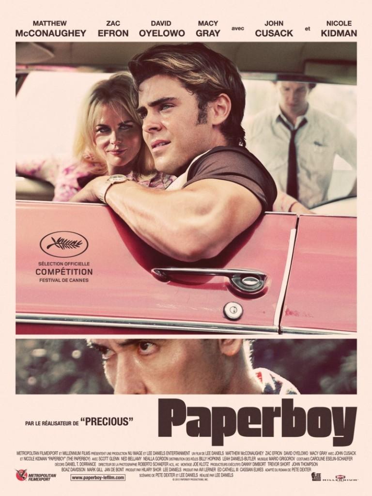 The Paperboy starring Zac Efron, Matthew McConaughey, Nicole Kidman, John Cusack