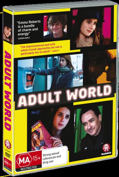 ADULT WORLD, AUSTRALIAN DVD COVER