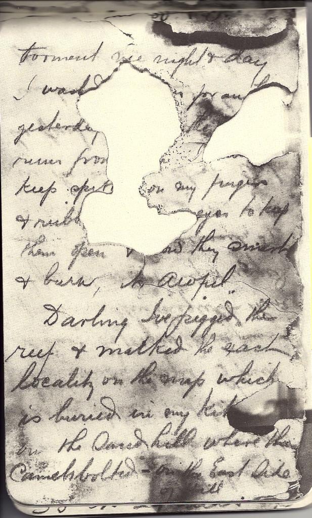 HAROLD LASSETER'S DIARY IMAGE
