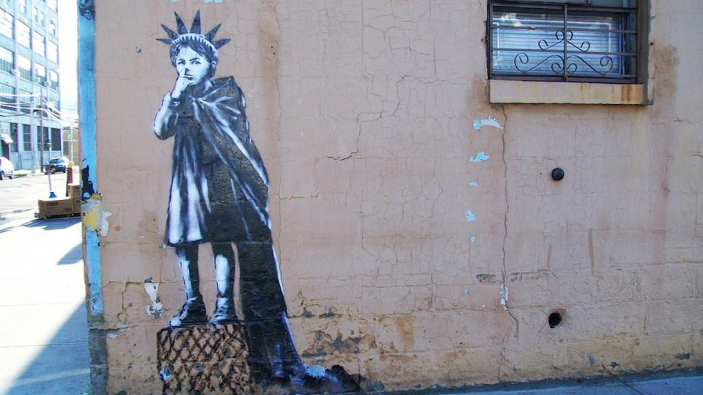 BANKSY DOES NEW YORK GRAFFITI IMAGE