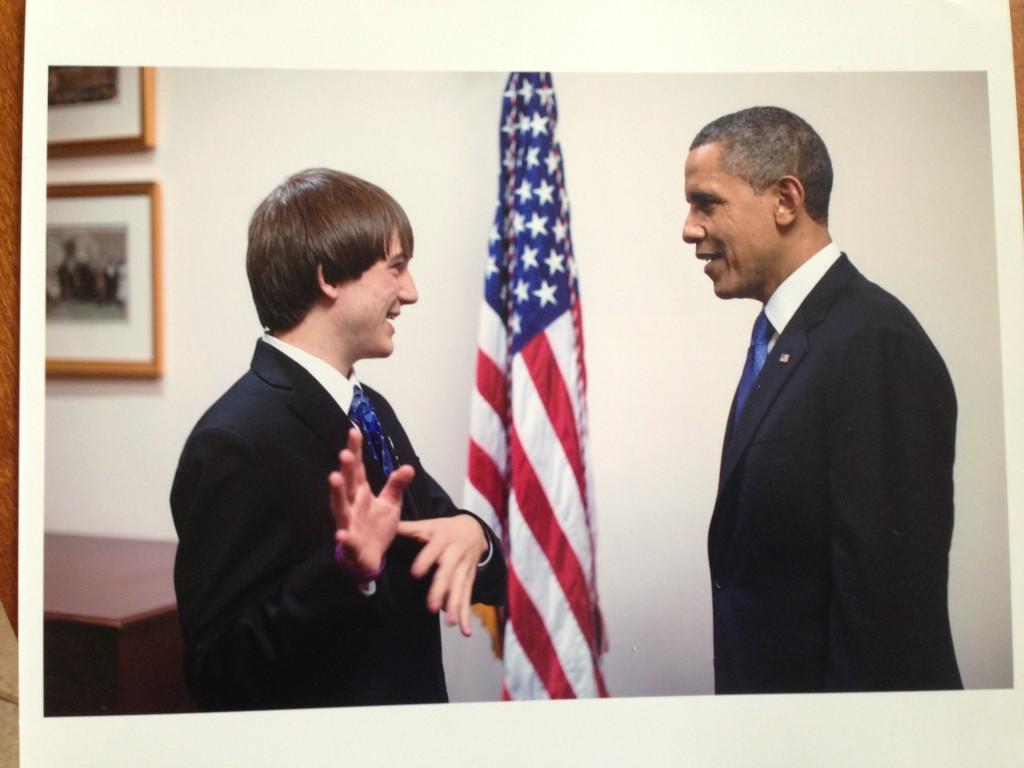 President Obama and Jack Andraka IMAGE
