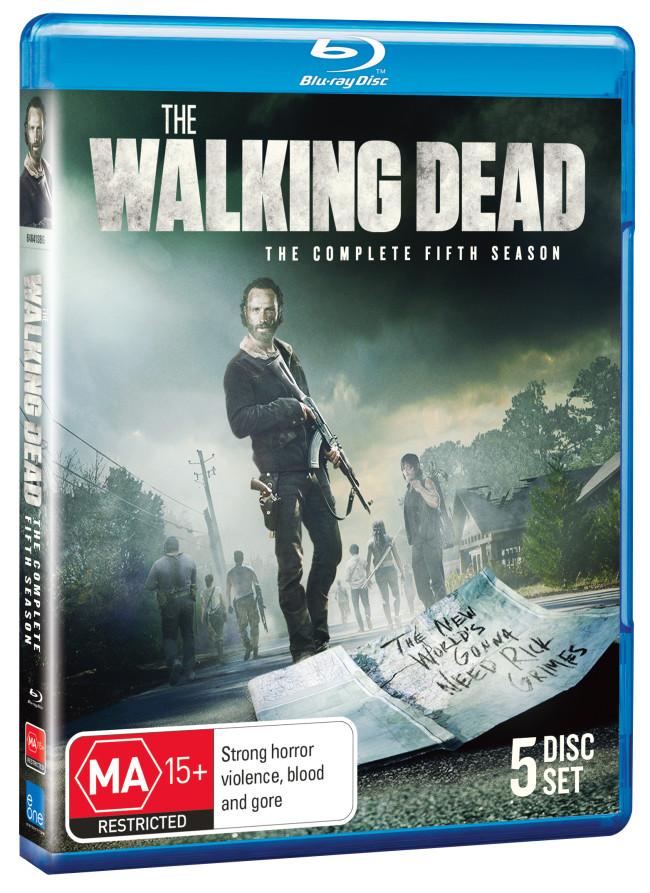 THE WALKING DEAD SEASON 5 BLU RAY COVER IMAGE
