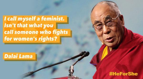 dalai lama feminism quote image