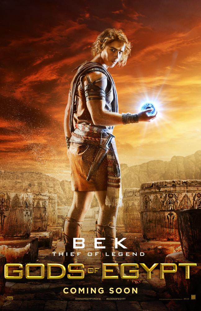 gods of egypt bek brenton thwaites poster
