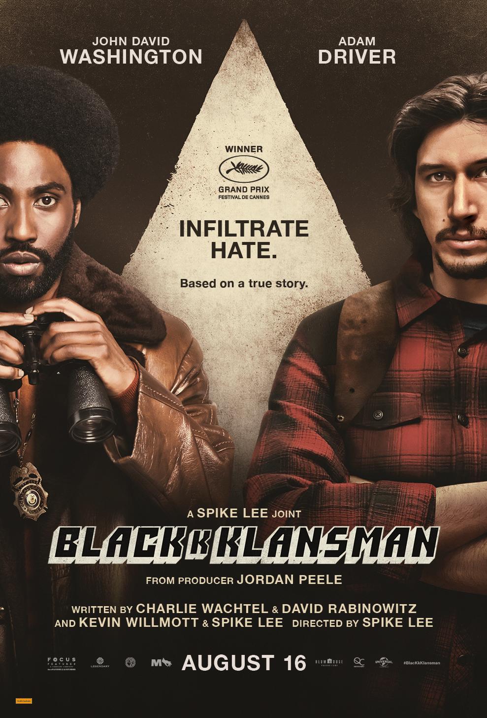 BLACKKKLANSMAN is SPIKE LEE in EPIC FORM