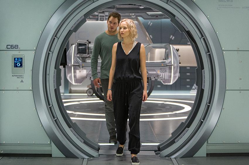 Passengers Chris Pratt and Jennifer Lawrence image
