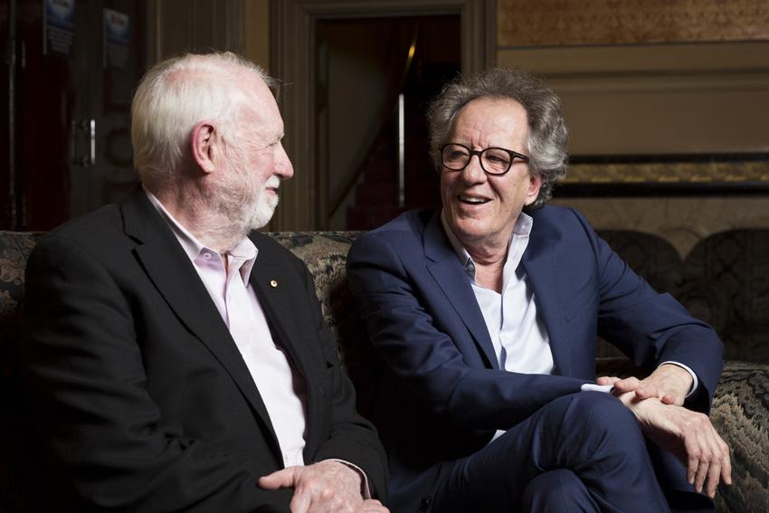 David Stratton and Geoffrey Rush image