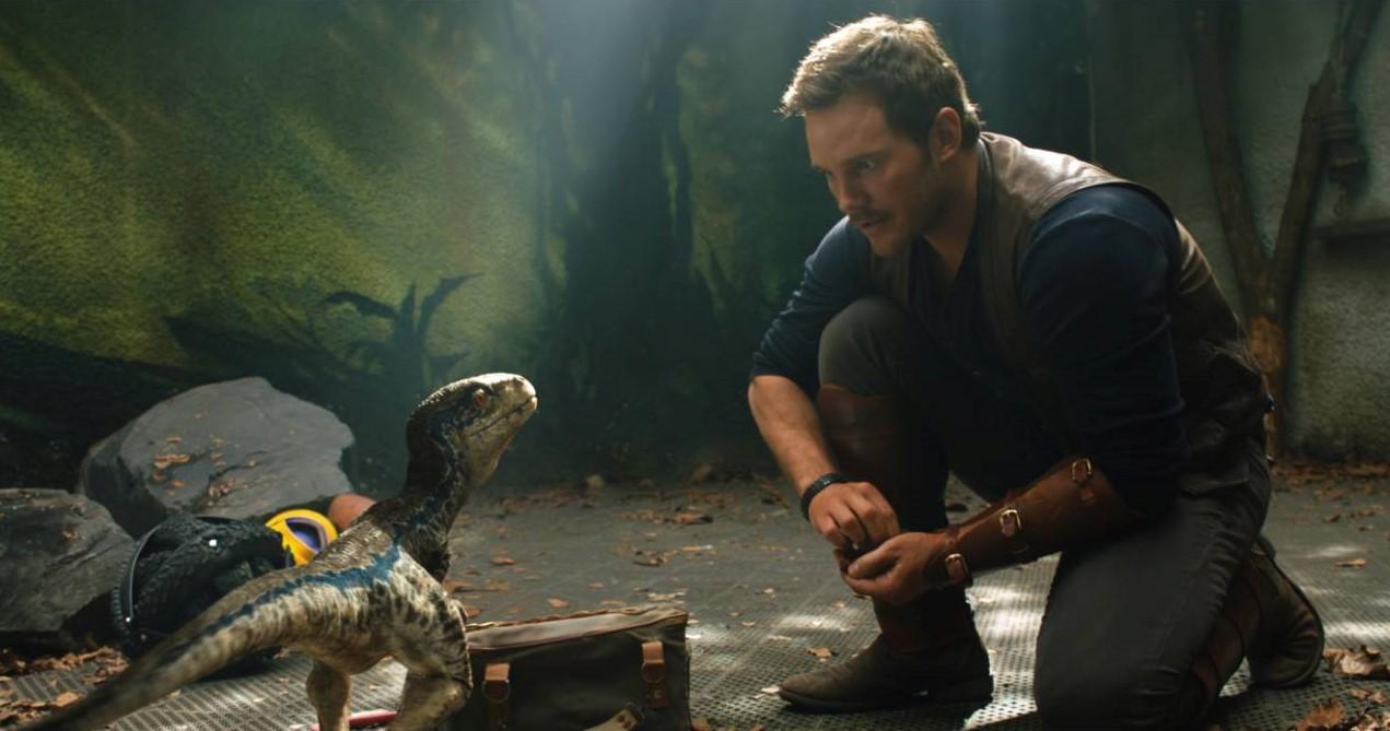 Jurassic World: Fallen Kingdom Chris Pratt and Baby Blue image